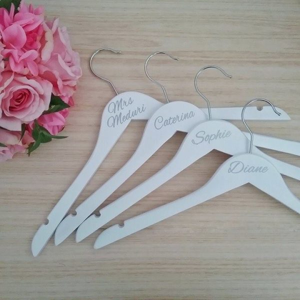 bridal party coat hangers Australia, personalised hangers, bridesmaid coathangers, Bridal Bling