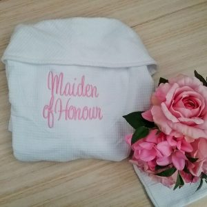 bridesmaid robe, maid of honour wedding robe, bridal party robes, personalised bridal party gifts