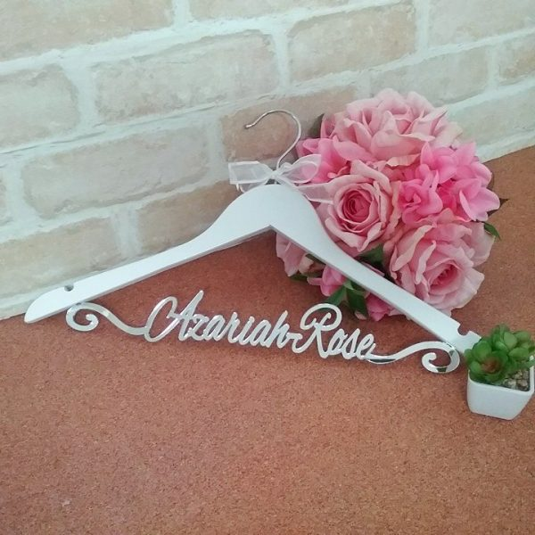 Coat Hanger for Christening gown, personalised bridesmaid gifts, gifts for wedding party, personalised gifts Australia