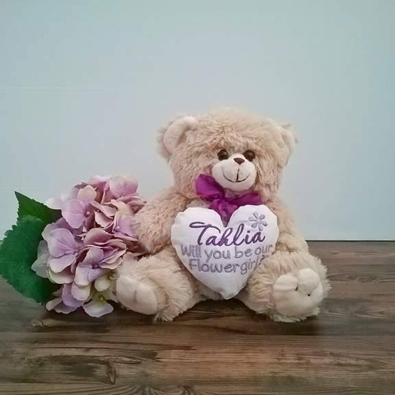will you be my flower girl gift, will you be my page boy gift, gift for flower girl, be my flower girl gifts, personalised teddy bears Australia