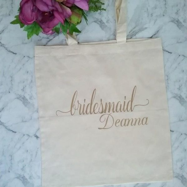 bridesmaids tote bags cheap, personalized tote bags wedding, wedding bridesmaid gifts, gifts for the wedding party Australia