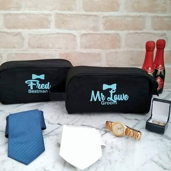 groomsmen gift, wedding gift for bridal party, personalised mens toiletry bag, Personalised wedding gifts Australia