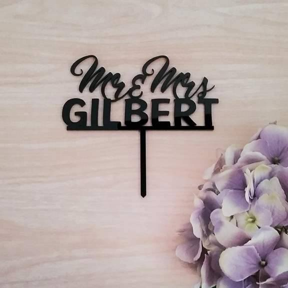personalised wedding cake toppers, cake toppers wedding, cake topper Australia, Personalised Mr and Mrs Toppers for weddings