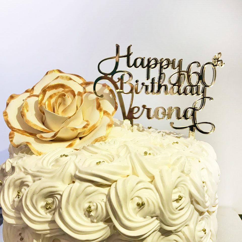 Astounding Personalised Happy Birthday Cake Topper Bridal Bling Personalised Birthday Cards Veneteletsinfo