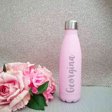 teacher gift, bridesmaid gift, personalised gifts Australia, birthday gift, personalised stainless steel drink bottle, personalised pink drink bottle