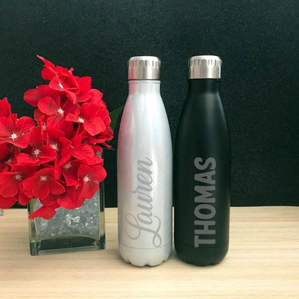 teacher gift idea, gift for groom, groomsmens gift idea, personalsied drink bottles for bridal party