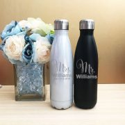 mr & mrs gift, personalised drink bottles, couple gift, gift for new mrs, mrs drink bottle, personalised stainless steel water bottle