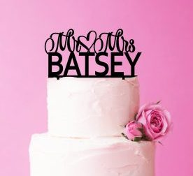 Wedding cake Topper, Personalised Surname Wedding Cake Topper, Mr and Mrs Custom Name Topper