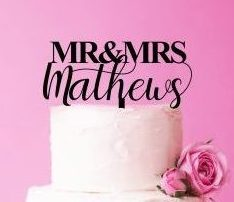 Custom Wedding Cake Topper, Mr and Mrs Cake Topper With Last Name, Unique Cake Topper, Acrylic Cake Topper, Wedding Surname Decoration