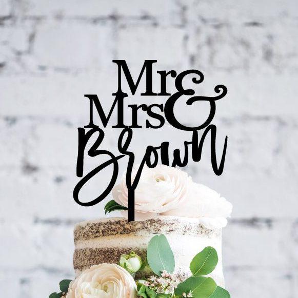 Custom Cake Topper, Personalised Topper Weddings