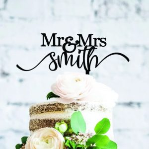Mr and Mrs Custom Cake Topper, Cake Decor Custom, Surname Cake Topper, Wedding Calligraphy Topper, Last Name Wedding Cake Topper Australia