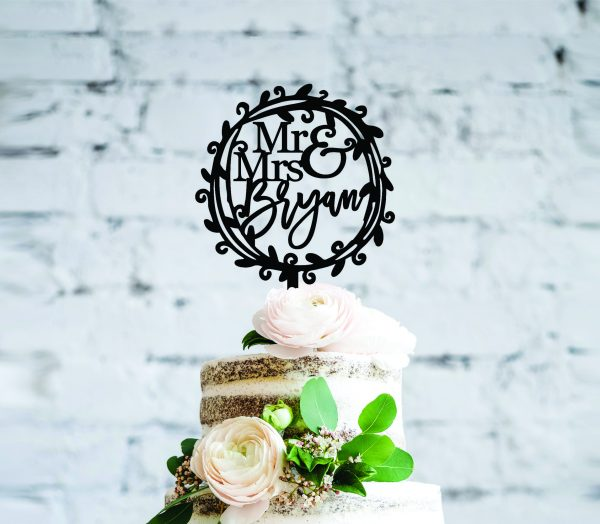 Rustic Name Cake Toppers Country Themed Toppers