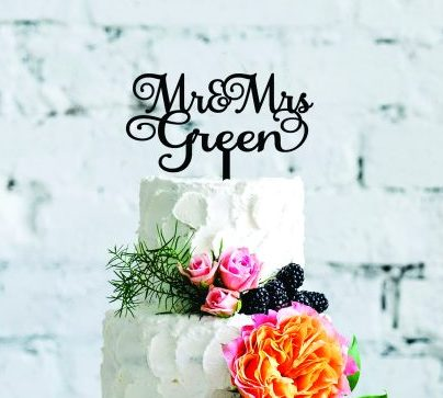 Custom Cake Topper for Wedding Cake, Cake Topper with Surname, Mr and Mr Wedding Cake Topper