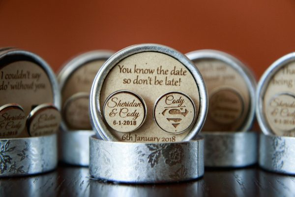 don't be late gift, groom gift, groom personalised cufflinks, cufflinks personalised for groomsmen