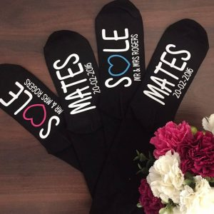Sole mate socks, novelty socks, wedding anniversary socks, Personalised socks for wedding anniversary, Cotton wedding anniversary gift,