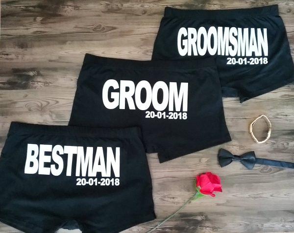 Personalised underpants for weddings, personalised mens Jocks for weddings, Groomsmen underwear
