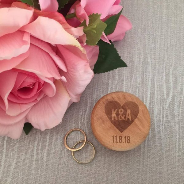 personalised wood jewellery box, ring box for wedding personalised
