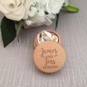rustic wedding ring box, personalised ring box, wooden ring box personalised