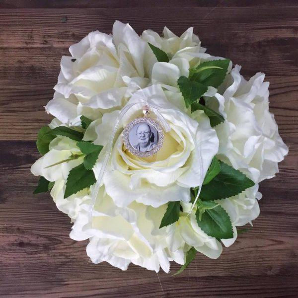 crystal rhinestone in memory charm, elegant memorial charm, rose gold memory charm
