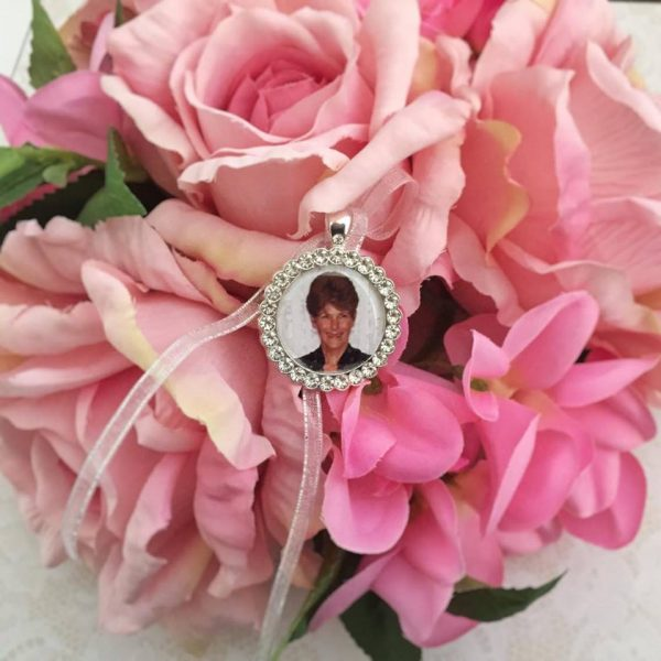 silver photo pendant, rose gold photo charm for wedding, gold photo charm for wedding
