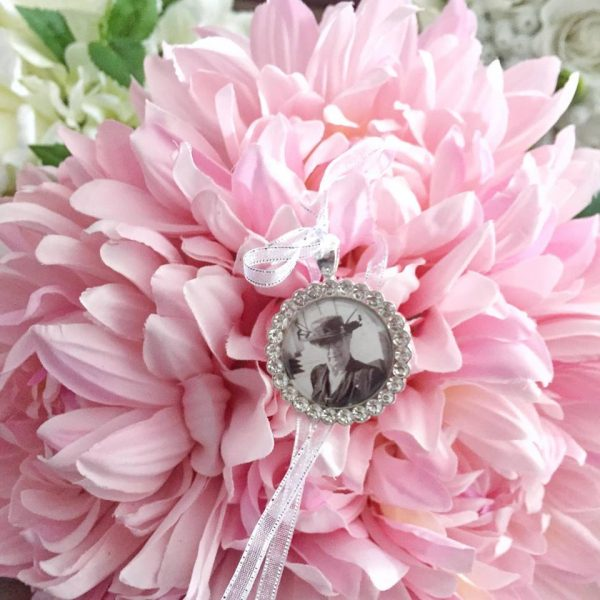 gold bouquet wedding charm, rose gold bouquet wedding charm, rose gold crystal wedding charm