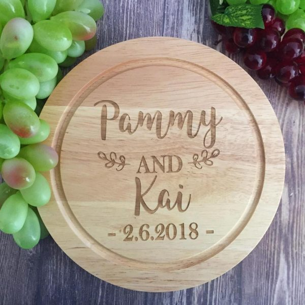 Custom personalised cheese board, Cheese board with names; Wedding Gift Cheese board set