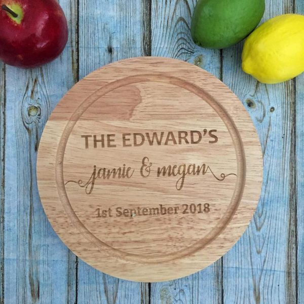 Personalised Cutting Board Set, Engagement Gift Idea, Personalised Couple Gift