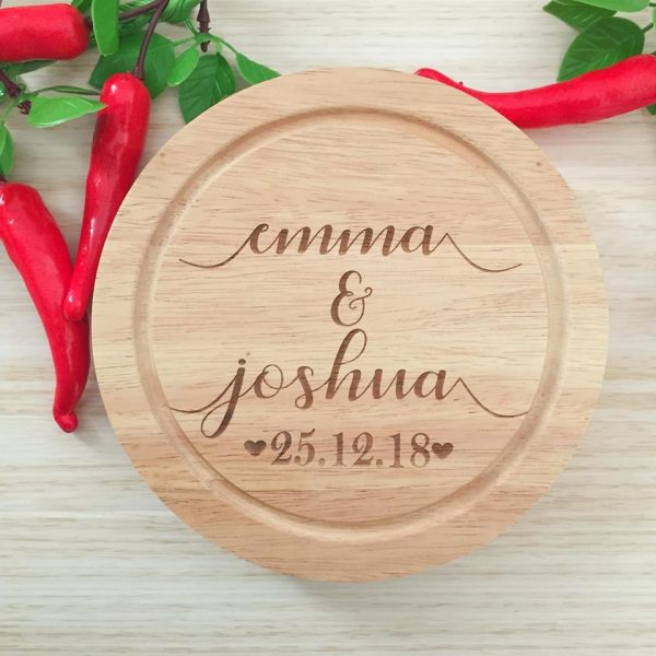 Couple Cheese Board Gift for engagement; Wedding Gift Idea, Personalised Cheese Board