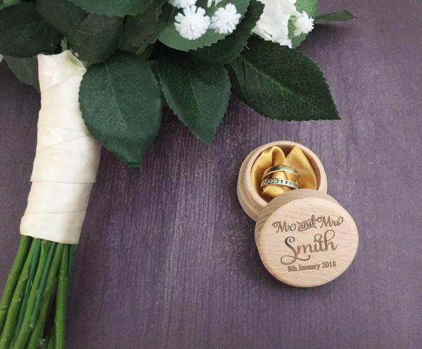 wedding ring jewellery box, ring box personalised, ring box custom,
