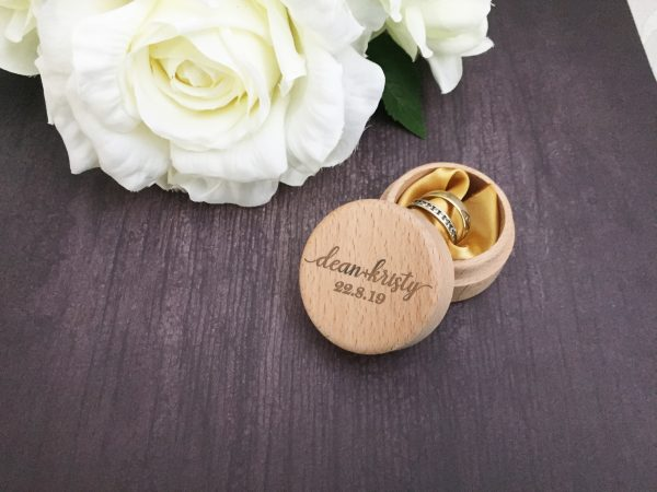 Ring box for wedding, rustic ring box, personalised rustic ring box, wedding day ringbox