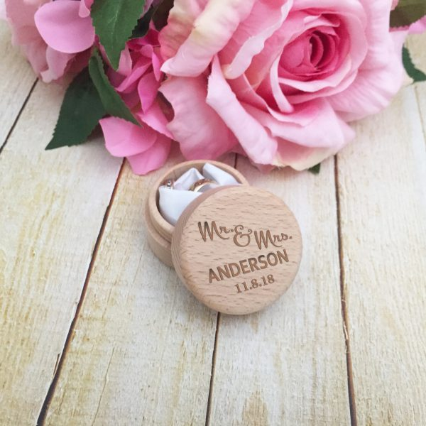 Personalised wooden ring box, Personalised Jewellery box, custom wooden jewellery box