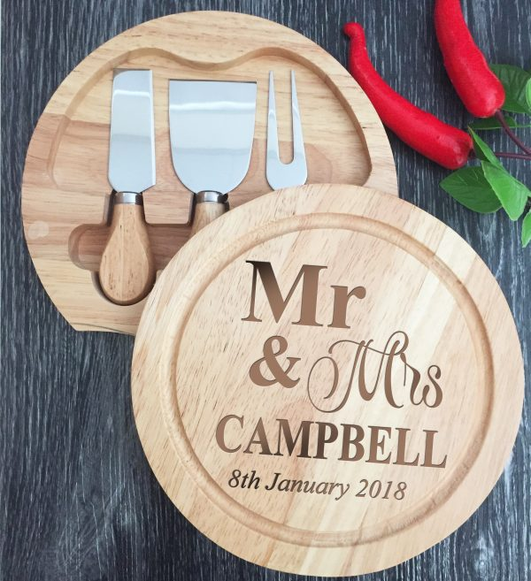 cheese and meat board, engraved cheese board, personalised cheese board set Australia