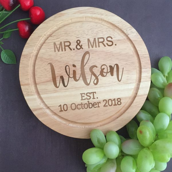 personalised cheese board and knife set, personalised cheese board, custom wood cheese board