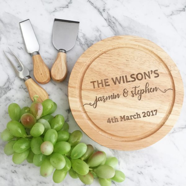 Personalised Cheese Boards, Wooden cheese boards, Gift for newly Weds