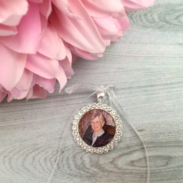 Wedding Crystal Rhinestone Crystal Bouquet Photo Memory Charm