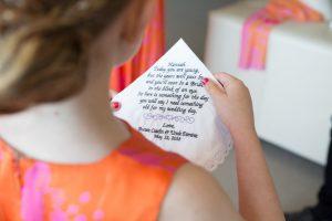 Flowergirl gift, flowergirl handkerchief, Bridal bling Australia