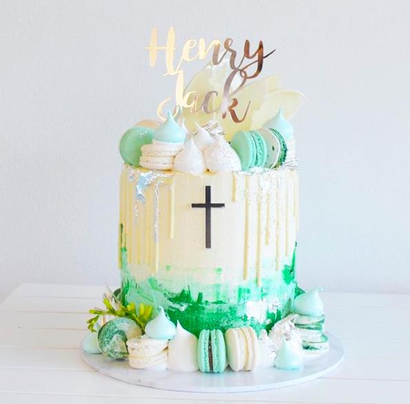 Christening cake topper, baby cake topper, personalised religious cake topper, Bridal bling Australia