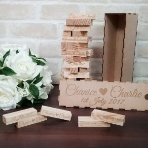 wedding signing blocks, jenga wedding blocks, guest book alternative, Bridal Bling Australia