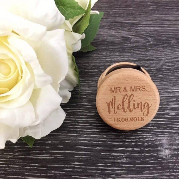 Ring Gift Box, Wooden Ring Box, Wooden Engagement Ring Box Australia