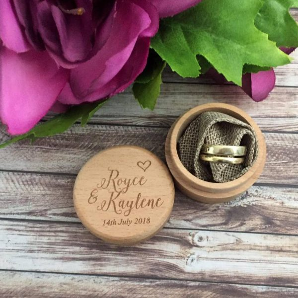 custom wedding ring box, wedding ring box, small ring box, Wood Ring Box Australia