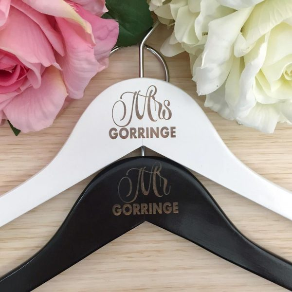 Mr & Mrs Gift, Mr & Mrs coat hangers, Wedding Gift for Mr & Mrs, personalised wedding gift for bride and groom Australia