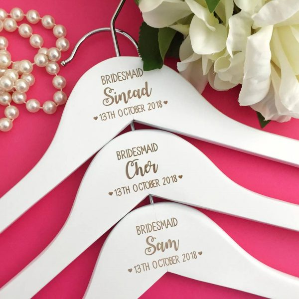 bridesmaid personalised gifts, personalised coat hanger for maid of honour, bride coat hanger Australia