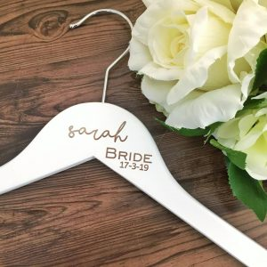 essential wedding hangers, gift for bridesmaids, hanger for bridesmaid, bridal party personalised hangers
