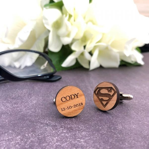 Bestman Gift idea, Wedding gift for Groomsman, Personalised Cufflinks Australia