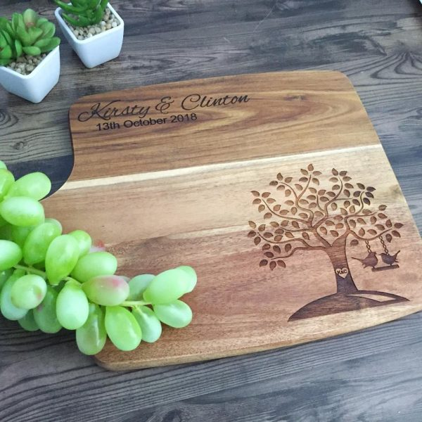 Personalised Cutting Board, Cheese Board Gift, Custom Wedding Gift, Unique Wedding Gift, Custom Wood Chopping Board