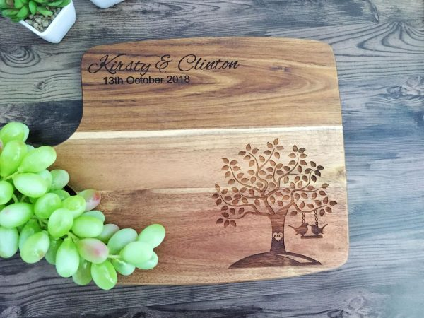 Cute Personalised Wedding Gift, Cheese Board Wedding Gift, Gift for Newly Weds, Anniversary Gift, House Warming Gift