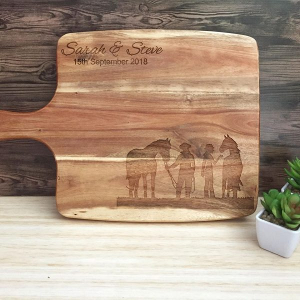 Wedding Gift for Horse Lovers, Rustic CheeseBoard, Horse Love Wedding Gift, Country Wedding Gift, Personalised Cheeseboard