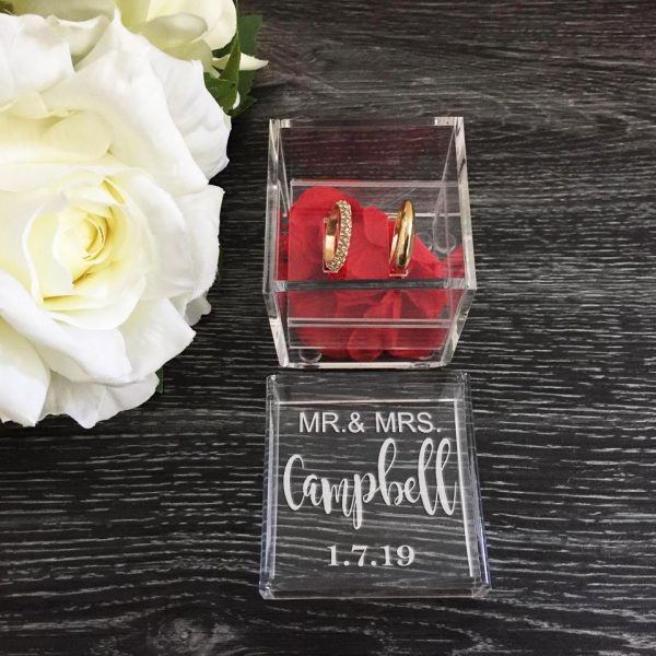 Mr Mrs Ring Box, Personalised Engagement Ring Box, Ring Box for Wedding