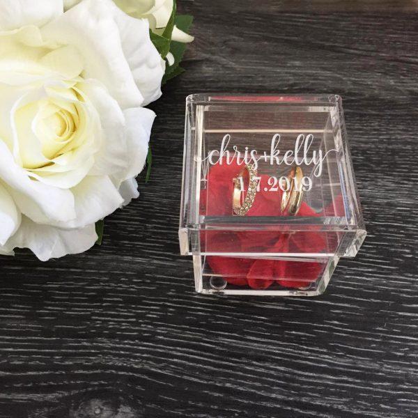 Ring Box Glass Look, Wedding Ring Box, Custom Ring Box