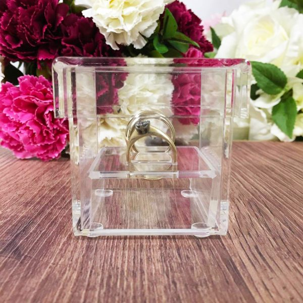 See Through Ring Box, Clear Ring Box, Glass Look Ring Box Australia